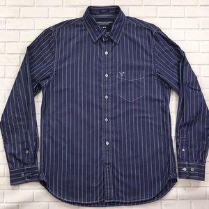 American Eagle Vintage Fit Button-Front Shirt M